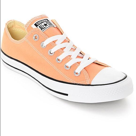 Converse Shoes   Light Orange Low Top